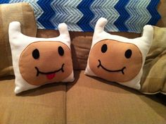 Adventure Time Finn Pillow. $15.00, via Etsy.