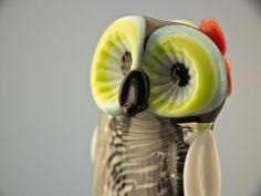 Simone lampwork owl bead sra by DeniseAnnette on Etsy, $15.00