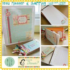 Menu planner i love it Crafts To Do, Paper Crafts, Meal Plan Grocery List, Family Command Center, Home Management Binder, Menu Planners, Life Organization, Getting Organized, Fun Projects