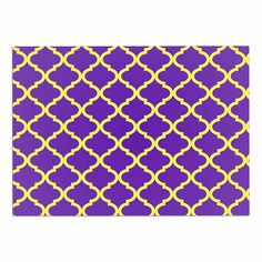 KESS InHouse Matt Eklund 'Culture Shock' Yellow Purple Dog Place Mat, 13' x 18' ** New and awesome dog product awaits you, Read it now  : Dog food container