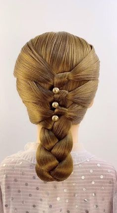 Plats Hairstyles, Chic Hairstyles, Little Girl Hairstyles, Pretty Hairstyles, Braided Hairstyles, Long Hair Dos, Hair Style Vedio, Hair Up Styles, Diy Hair Care