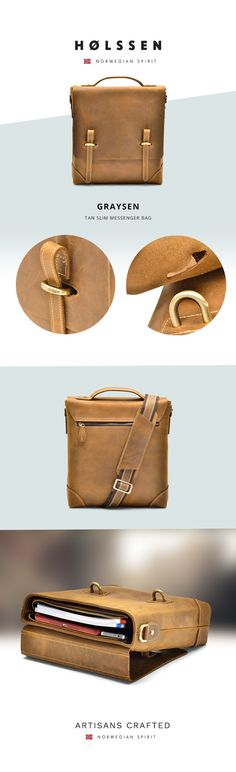 Perfect leather messenger bag to carry iPad, tablets, or any daily essentials.