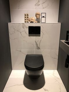 Small Downstairs Toilet, Small Toilet Room, Small Bathroom Layout, Small Bathroom With Shower, Simple Bathroom, Guest Toilet, Small Toilet Design, Modern Toilet Design, Luxury Toilet