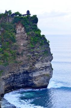 Beautiful Uluwatu or the Hindu temple on the rock in Bali, Indonesia. #indonesia #bali #temple #uluwatu
