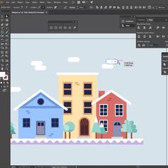 In this video tutorial you'll learn how to use basic shapes to create a winter village in Adobe Illustrator. You'll also learn the importance of grouping and. Graphic Design Lessons, Graphic Design Tutorials, Web Design, Shape Design, Flat Design Illustration, Graphic Illustration, Hair Illustration, Portrait Illustration, Vector Illustrations
