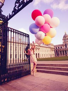 i love balloons, and gates, and beautiful buildings