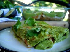 avocado enchiladas (You could also improvise and use another source of meat or protein).