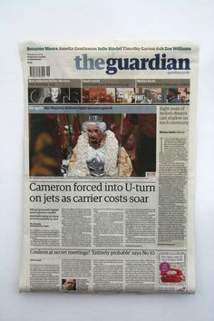 The Queen On the front of The Guardian Newspaper 9th may Online resize.jpg