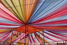 Canopy / Marquee in Rajasthani Lehariya fabric, Wedding decor