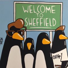 Very excited about the collaboration with on my Arctic Penguins print. Only 10 will be available from next Saturday. Pete McKee x Kid Acne by petemckee# made in sheffield is super city of sheffield Arctic Monkeys, Arctic Penguins, Yorkshire England, South Yorkshire, Pete Mckee, Monkey Memes, Sheffield Art, Cute Ankle Boots, Monkey Art