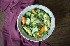 Carrot, Cucumber, and Avocado Salad