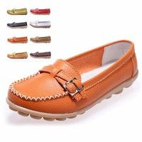 Soft and comfortable women casual leather loafers,2016 new design. Material:Genuine leather Color: o