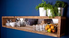 Mirrored Shelving Unit by MaloneysWorkshop on Etsy