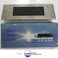Solar Powered Sign Light for Real Estate signs