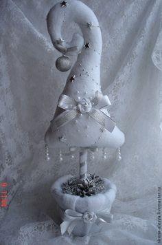 Новый год 2015 ручной работы. Ярмарка Мастеров - ручная работа Ёлочка в серебре. Handmade.