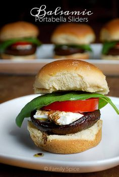 Sometimes you just need a light lunch or a small bite and theseBalsamic Portobello Sliders will definitely satisfy both!