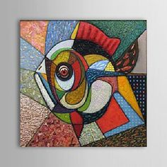 Sunny Fish Abstract Oil Painting - Free Shipping