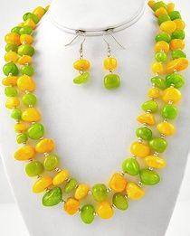 Lemon lime Necklace set