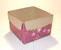 tutorial on making open box from scallop envelope die  #Stampin' Up!  #Scallop Envelope
