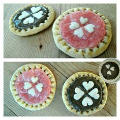 Mini cakes made with salt dough
