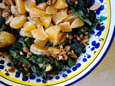 Kale and Clementine Salad Elizabeth Minchilli - 1 Pear Salad, Fennel Salad, Rosemary Potatoes, Roasted Potatoes, Kale Recipes, Dinner Recipes, Soup And Salad, Pasta Salad, Baked Fennel