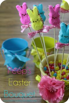 DIY FUN EASTER EDIBLE TREATS | Margot Potter: DIY Peeps Easter Bouquet