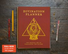 Divination Planner  Red / Weekly / Full-Size / 12 by Ruskerville - vertical layout