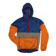 An anorak-style windbreaker that packs into its internal cellphone pocket, built with weather-resistant, repurposed fabric. Cute Jackets, Jackets For Women, Hip Hop Fashion, Mens Fashion, Lounge Underwear, Camisa Polo, Mode Vintage, My Guy, Apparel Design