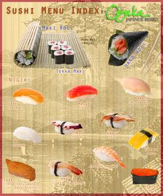 Lost when it comes to ordering sushi? Learn how to master any sushi menu with this sushi index and guide!