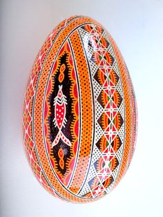Pysankas are traditional Ukrainian decorated Easter eggs and are a beautiful way to add to your home decor any time of the year. The goose egg Pysankas are larger than the chicken egg Pysankas allowin