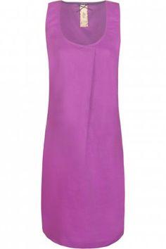MISTRAL Washed (g-dyed) Linen Shift Dress Violet