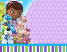 Doc McStuffins fixes broken toys in her backyard playhouse clinic with the help of her friends Hallie, Lambie, Chilly, and Stuffy. It's time for your check-up with Doc! Write a prescription for enjoyable with our Doc McStuffins occasio Printable Invitation Templates, Printable Birthday Invitations, Invites, Doc Mcstuffins Birthday Party, Party Fiesta, Templates Free, Backyard Playhouse, Check, Frozen