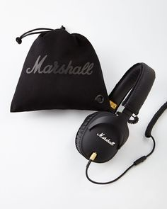 Marshall Monitor Over-Ear Headphones, Black - Neiman Marcus