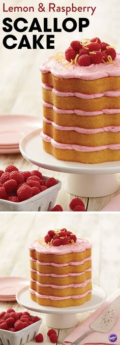 Share the love with this scrummy Lemon and Raspberry Scallop Cake! Baked in a beautiful scalloped cake pan, create a layer cake with wow-factor, that doesn't need to be hidden under layers of perfect icing. Perfect for any celebration!