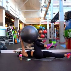 Fitness Workouts, Gym Workout Tips, Fitness Workout For Women, Sport Fitness, Workout Videos, Yoga Fitness, At Home Workouts, Fitness Motivation, Swiss Ball Exercises