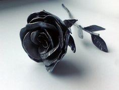 Handmade Steel Metal Rose Sculpture Decor by HandmadeSteel on Etsy, €50.00