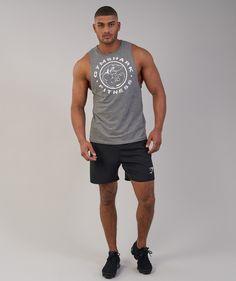 22c3f09371b6bd Gymshark Fitness Drop Armhole Tank - Slate Marl 4 Athletics