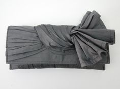 KNOT Silk clutch in Metal / Charcoal gray by ao3designs on Etsy, $78.00