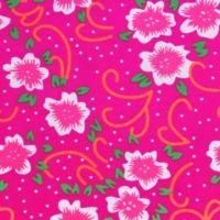 Tissu Fiora rose