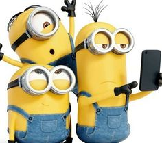 Kevin, Stuart and Bob. Minion selfie time!