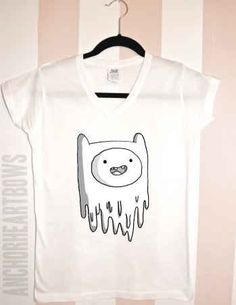 "Finn V-Neck Hipster T-Shirt | 21 Of The Most Unique ""Adventure Time"" Etsy Finds"