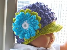 Visor Beanie, link only, pattern is for sale but I love this, may have to purchase the pattern