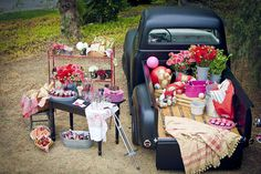 vintage tailgate party