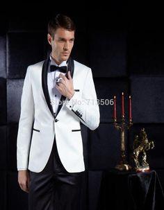 Alibaba グループ | AliExpress.comの スーツ からの へようこそハイグレードメンズスーツストア色:黒とスタイル:カスタムメイドすべてのスーツ缶カスタムメイドadlutと男の子サイズあなたが測定測定値と選択色(デフォルトとして画像)、と書き込みそれらに備考またはあなたがクリックメッセ 中の カスタムホワイトメンズスーツショールラペルメンズ結婚式スーツワンボタンスリムフィットタキシード用男性花婿の付添人スーツ(ジャケット+パンツ+蝶ネクタイ)