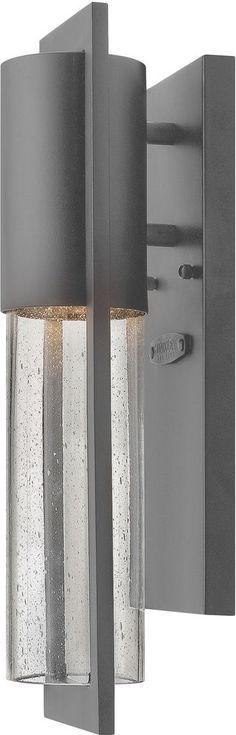Hinkley 1326HE, Dwell Outdoor Wall Sconce Lighting, 60 Watts, Hematite