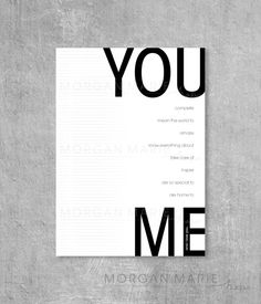 You/Me Wall Art Love by MorganMarieMakes on Etsy, $10.00
