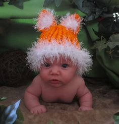 Fox Hat and Diaper Cover by simplyyarn27 on Etsy