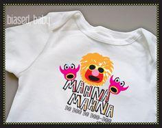 Andrew would LOVE this!!  Mahna Mahna Baby Onesie - Funny Baby Gift. $16.00, via Etsy.