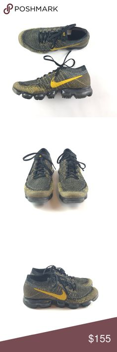 Nike Air VaporMax Flyknit Description: Nike Air VaporMax Flyknit Item Condition: This Is In Excellent Used Condition! No ! Comes From A Pet/Smoke Free Home! Color: black and gold Size:9 Shipping: -All items will ship within 1 business day via USPS with tracking Nike Shoes Athletic Shoes Nike Basketball Shoes, Nike Shoes, Nike Air Vapormax, Men's Outfits, Casual Outfits, Colour Black, Smoke Free, Nike Men, Product Description