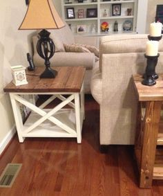 Rustic X end table | Do It Yourself Home Projects from Ana White